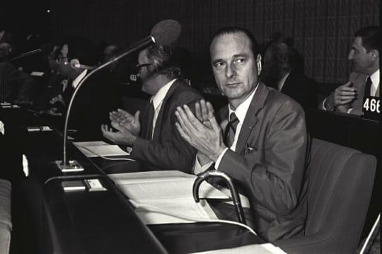 Jacques Chirac au Parlement européen