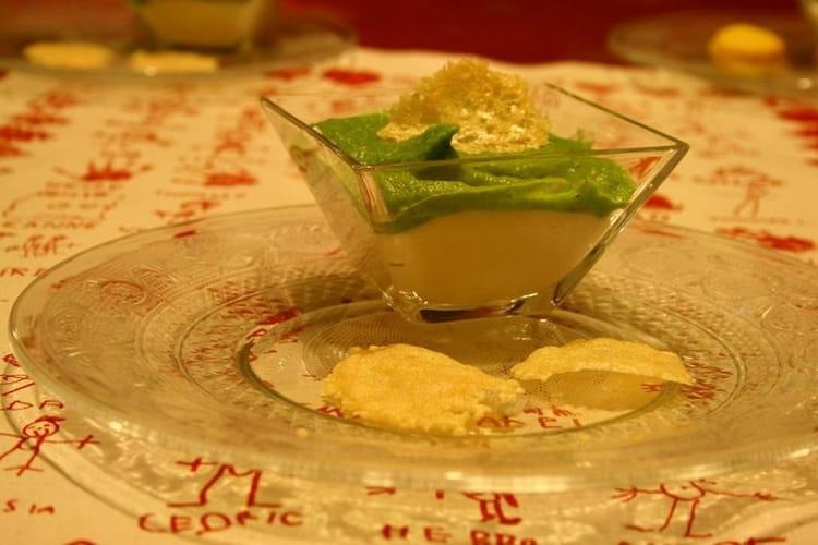 Crème de chou-fleur et de brocoli et ses tuiles