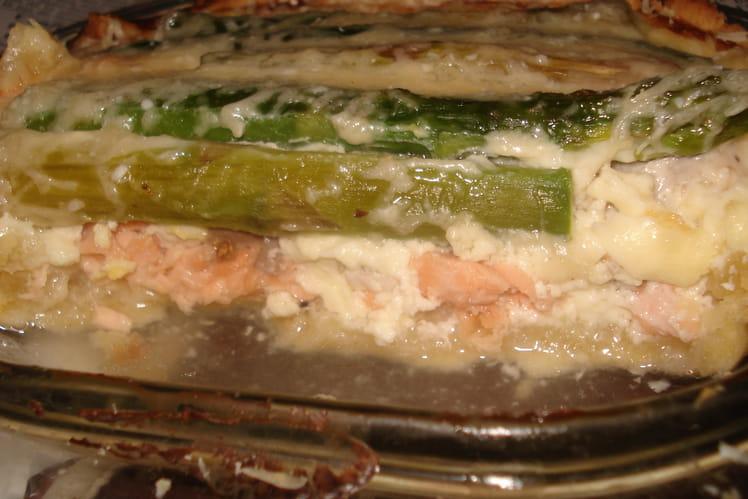 Quiche asperges et saumon
