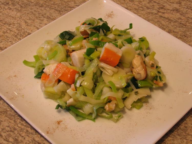 Recette De Salade De Poireaux Aux Fruits De Mer La Recette Facile