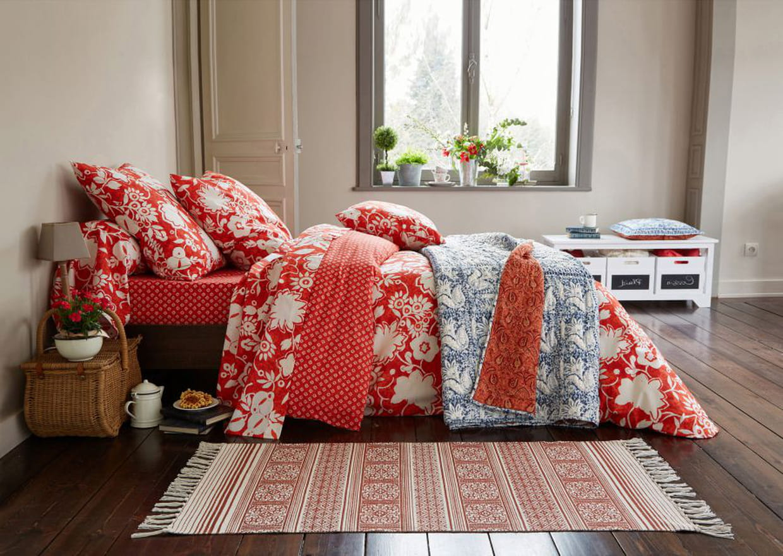 parure de lit orange de becquet. Black Bedroom Furniture Sets. Home Design Ideas