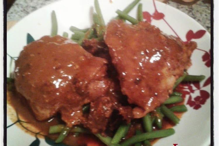 Poulet sauce satay et beurre de cacahuetes crunchy