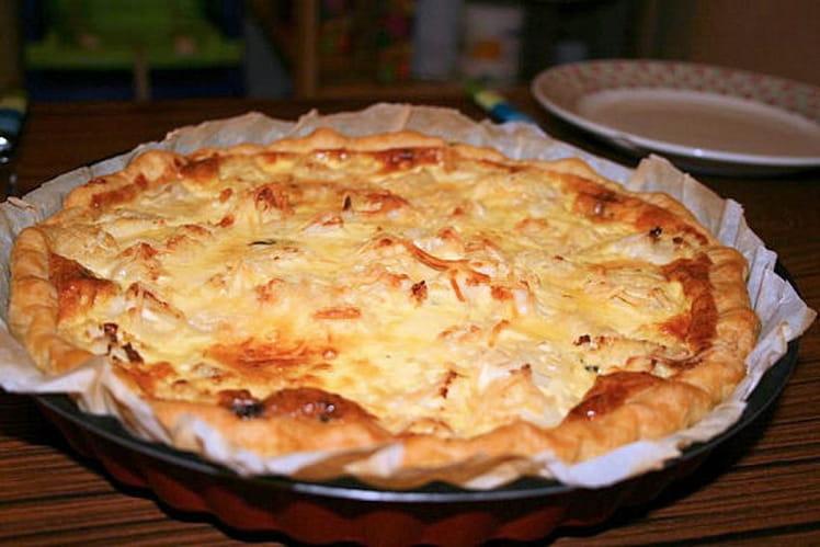 Tarte chou-fleur et roquefort