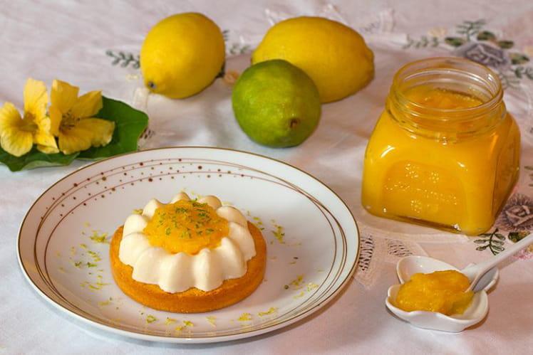 Mini St-Honoré glacé au citron et au lemon curd