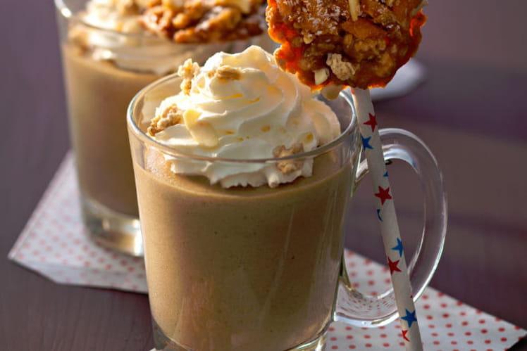 Mousse de cappuccino et sucette de muesli