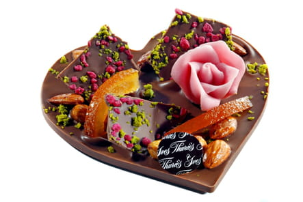 Coeur mendiant au chocolat d'Yves Thuriès