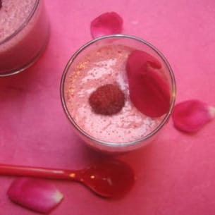 smoothie framboises rose