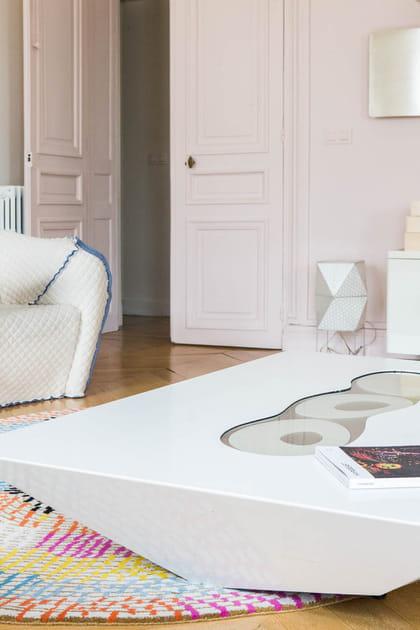 Un salon blanc design