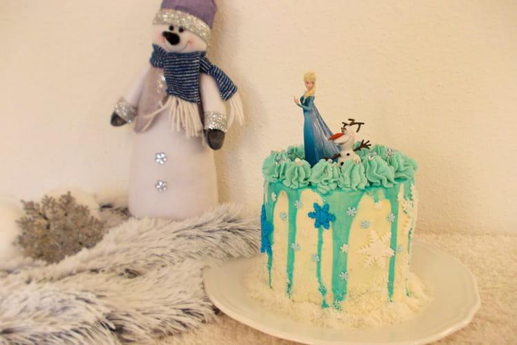 Layer cake Reine des Neiges noix de coco