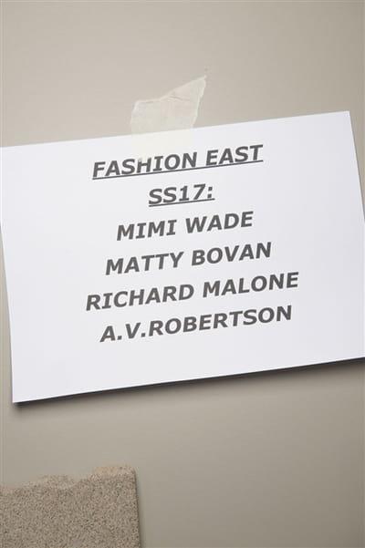 Fashion East (Backstage) - Printemps-été 2017