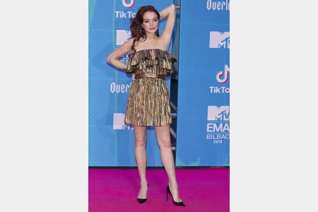 Lindsay Lohan aux MTV EMA's 2018