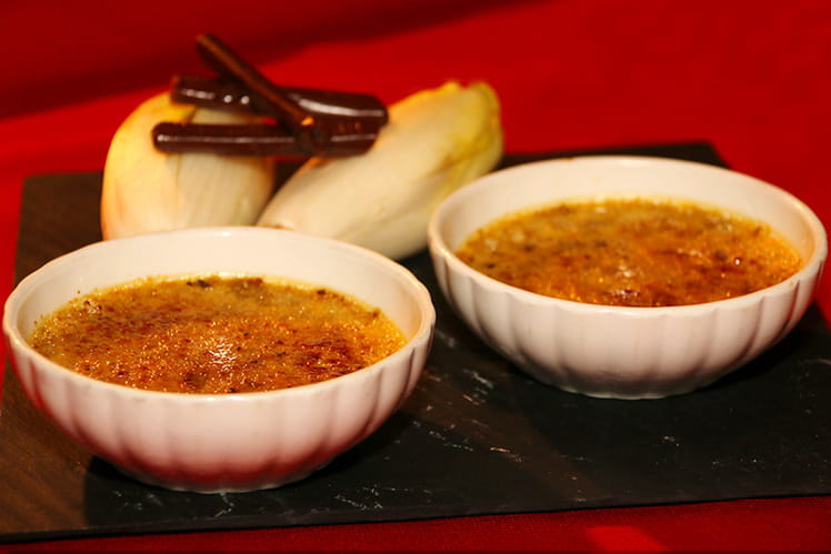 Crème brûlée d'endives au caramel