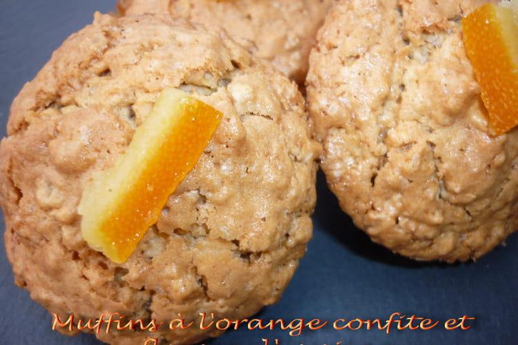 Muffins à l'orange confite et aux flocons d'avoine