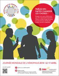 Le 17 avril 2015 : Journée mondiale de l'hémophilie