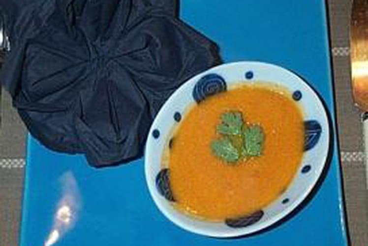Soupe de langoustines parfumée à la citronnelle