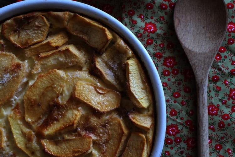 Far breton aux pommes et à la vanille