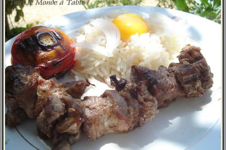 Kabab au riz