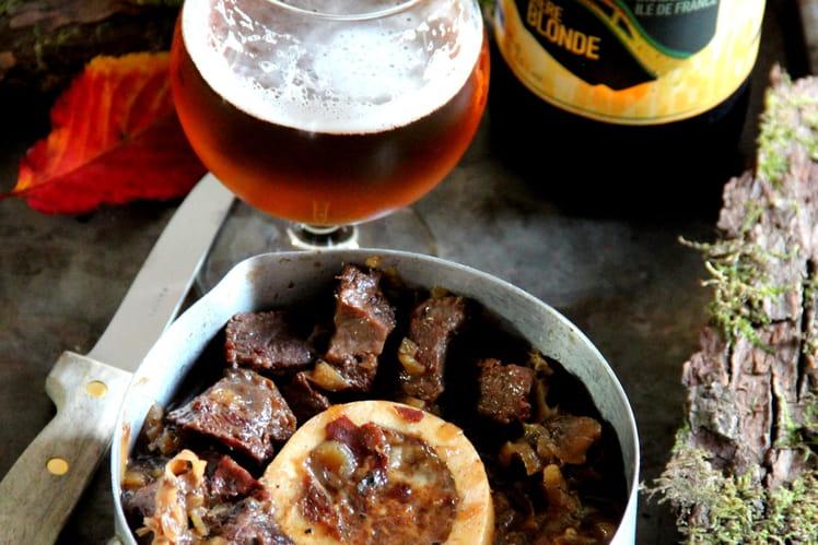 Joue de boeuf à la bière et au miel
