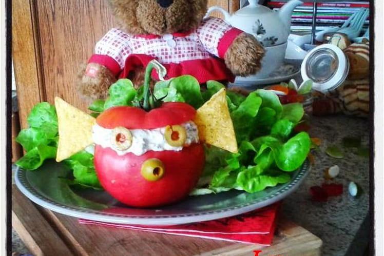 Tomate au fromage frais