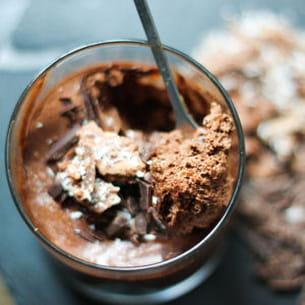 mousse au chocolat croquante