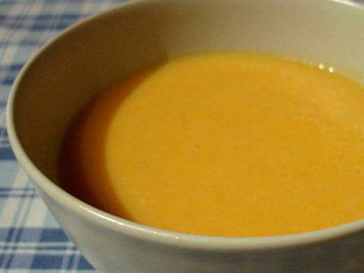 recette de velouté potiron carottes : la recette facile