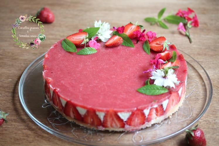 Entremets fraise et verveine