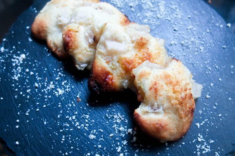 Cookies poire, chocolat blanc et noix de coco