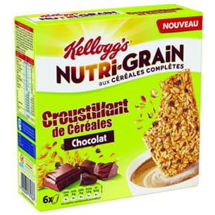 les croustillants de céréales nutri-grain de kellogg's