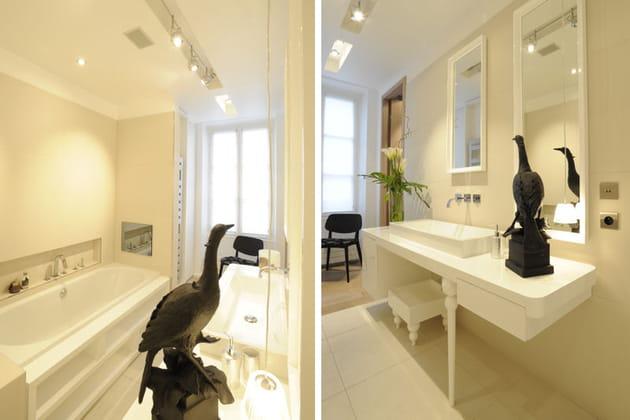 Salle de bains baroque revisitée