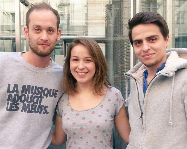 Notre journaliste Mariana au top avec les chefs Jérémy et Jean-Baptiste