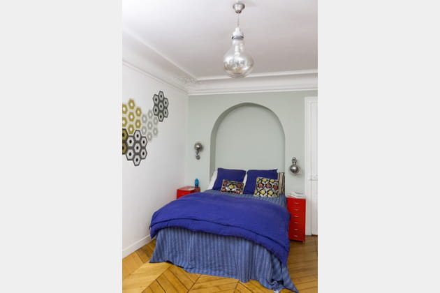 chambre bleu violet. Black Bedroom Furniture Sets. Home Design Ideas