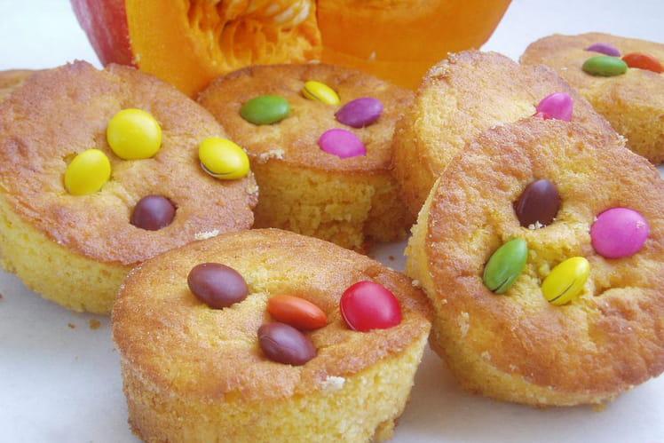 Muffins d'Halloween au potimarron et smarties