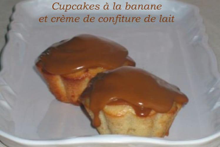 Cupcakes à la banane et crème de confiture de lait