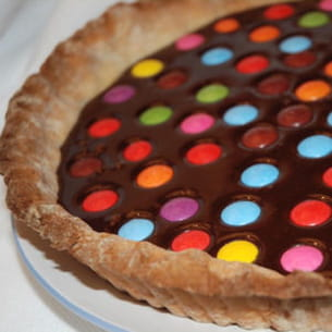 tarte chocolatée aux smarties