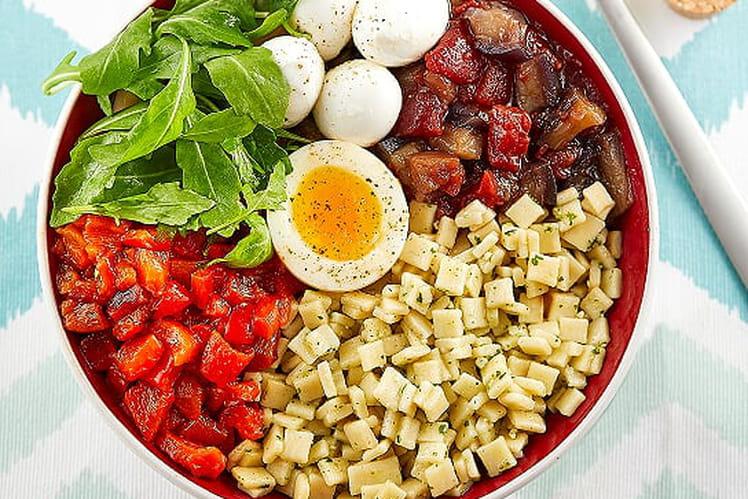 Buddha bowl de Crozets aux légumes de soleil