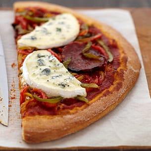 pizza peppéroni au bresse bleu