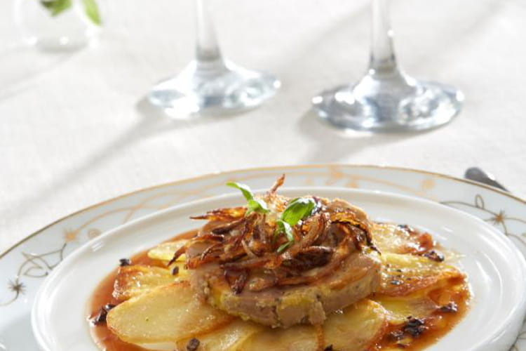 Pommes de terre Ratte du Touquet au foie gras