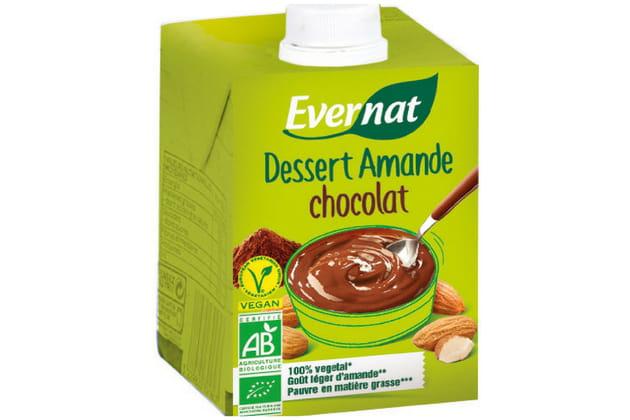 La crème dessert amande-chocolat d'Evernat
