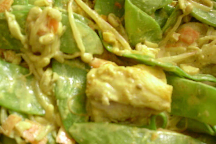 Colombo de poisson aux légumes croquants