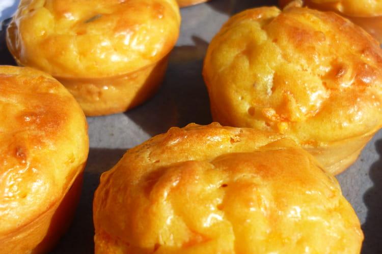 Muffins aux carottes et chèvre frais