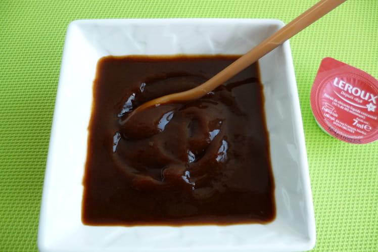 Crème dessert végan avec chicorée liquide