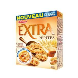 céréales extra pépites caramel et nuts de kellogg's