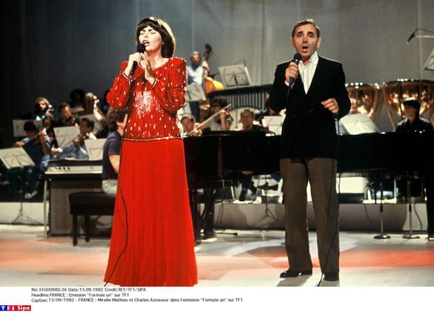 Avec Mireille Mathieu en 1982