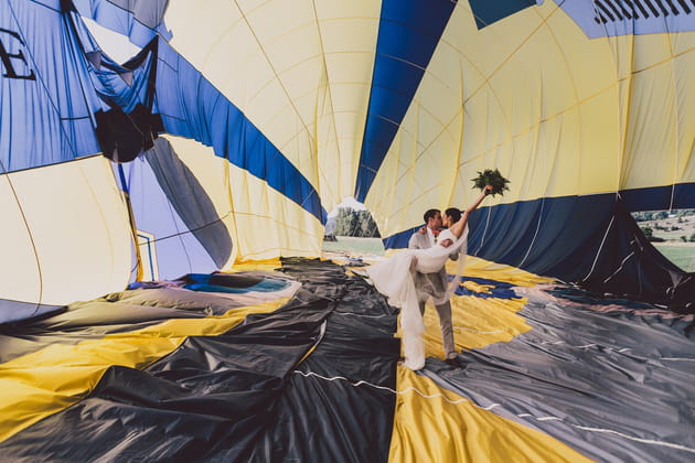 Un mariage en montgolfière: direction le 7e ciel!