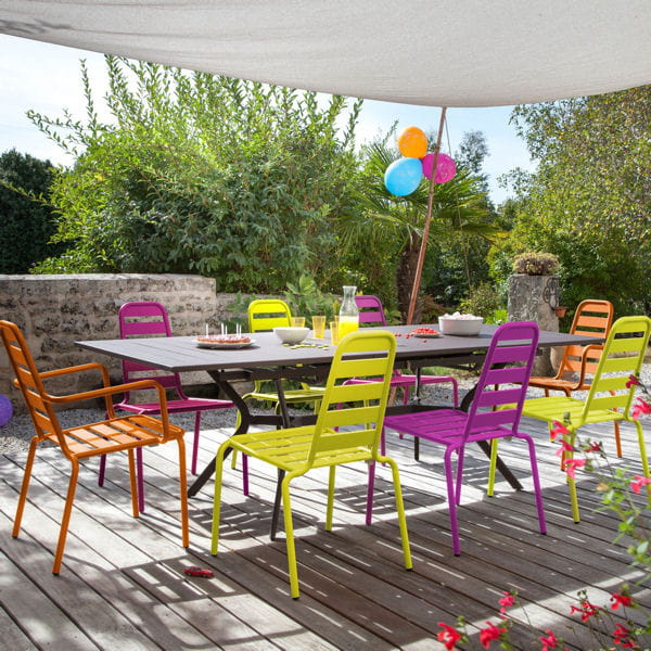 Salon de jardin multicolore d\'Oceo
