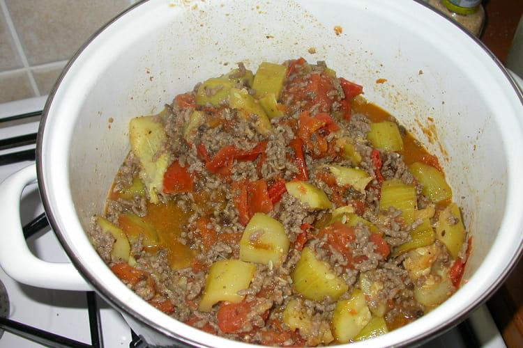Poêlée de boeuf aux légumes