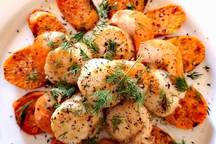 Coquilles saint Jacques et patates douce