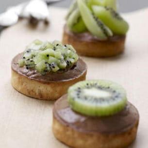 tarte kiwi et sa mousse au chocolat