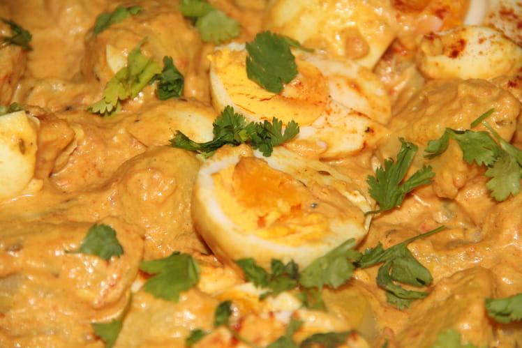 Curry de pommes de terre et oeufs