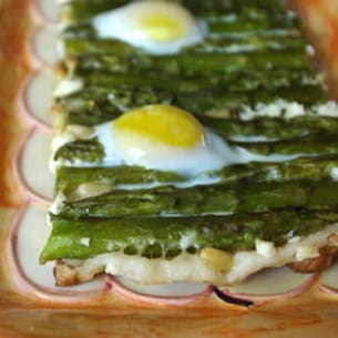tatin d'asperges aux fromages
